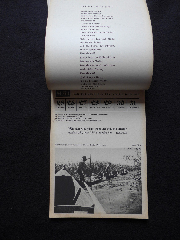 Calendrier 1941.Deutfche In Aller Welt 1941 Calendar Calendrier Nazi