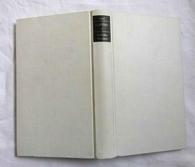 Goethe Werke Erster Band Gedichte Versepen Gedichte Ausgewählt Von Walter Höllerer West östlicher Divan Die Geheimnisse Hermann Und