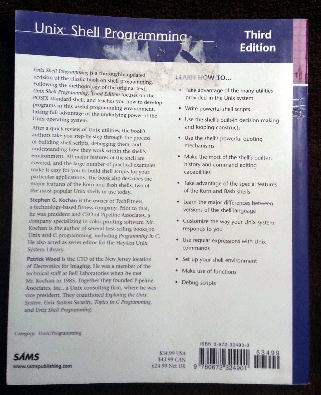 ... Unix gebrauchtes Buch – Kochan, Stephen G.; Wood, Patrick –  Unix gebrauchtes ...