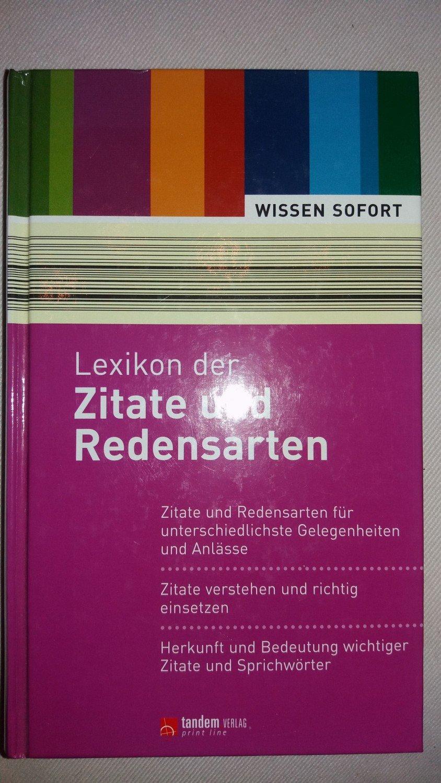Lexikon Der Zitate Und Redensarten Prof Dr Buch Gebraucht