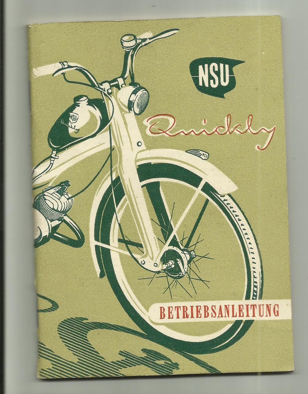 NSU Quickly Bedienung Anleitung Daten Technik Handbuch Neu