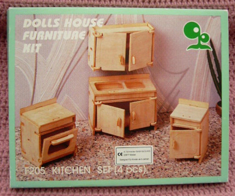 dolls house furniture kit kitchen set puppenhaus k chen m bel buch gebraucht kaufen. Black Bedroom Furniture Sets. Home Design Ideas