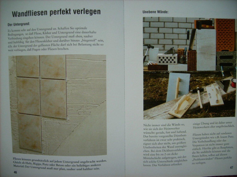 Fliesen In Der Wohnung Materialkunde Werkzeuge Planung Untergrund - Fliesen auf putz kleben