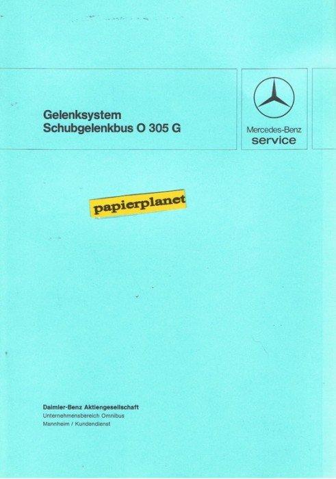 Gelenksystem schubgelenkbus o 305 g mercedes benz service for Mercedes benz service g