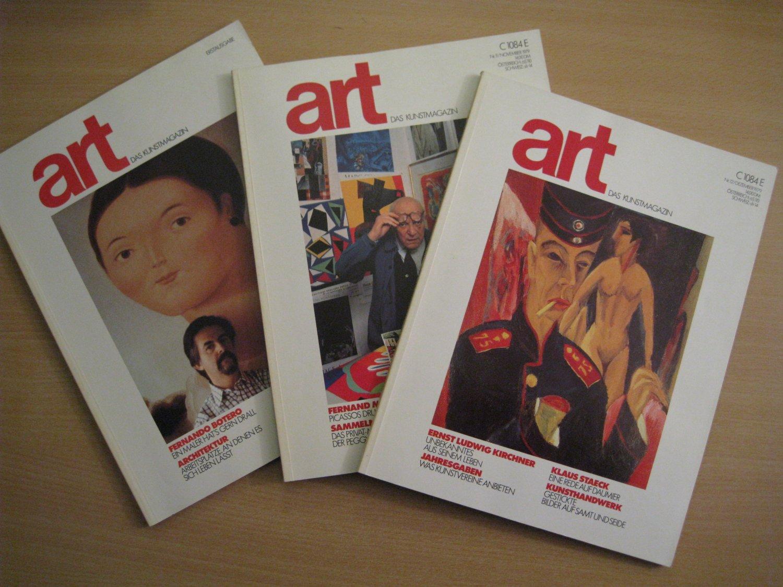 das kunstmagazin 1979 bis 2007 art buch erstausgabe kaufen a027zfsr01zz5. Black Bedroom Furniture Sets. Home Design Ideas