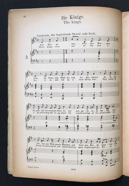 Weihnachtslieder Englisch.Weihnachtslieder Für Eine Singstimme Mit Pianofortebegleitung Klavierbegleitung Deutsch Und Englisch Tiefere Stimme Edition Peters Nr 3105