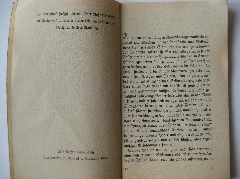 Kleider Machen Leute Gottfried Keller Buch Antiquarisch Kaufen