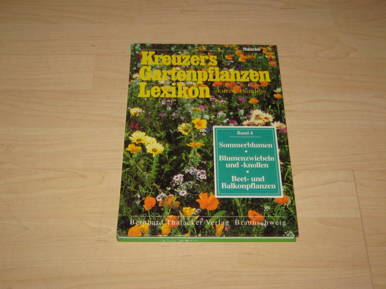 Kreuzers Gartenpflanzen Lexikon Johannes Kreuzer Buch Gebraucht