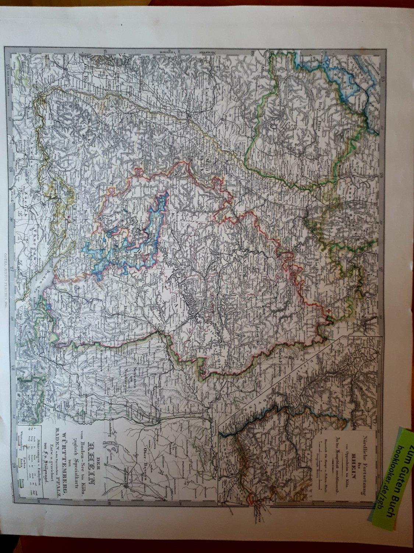 Der Rhein Vom Boden See Bis Koln Zugleich Specialkarte Von