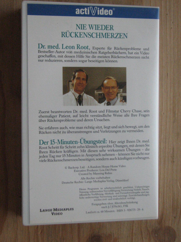 """Nie wieder Rückenschmerzen"""" (Dr Med) – Film antiquarisch kaufen ..."""