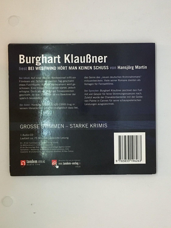 """Bei Westwind hört man keinen Schuss Hörbuch 1 CD"""" (Burghart Klaußner ..."""