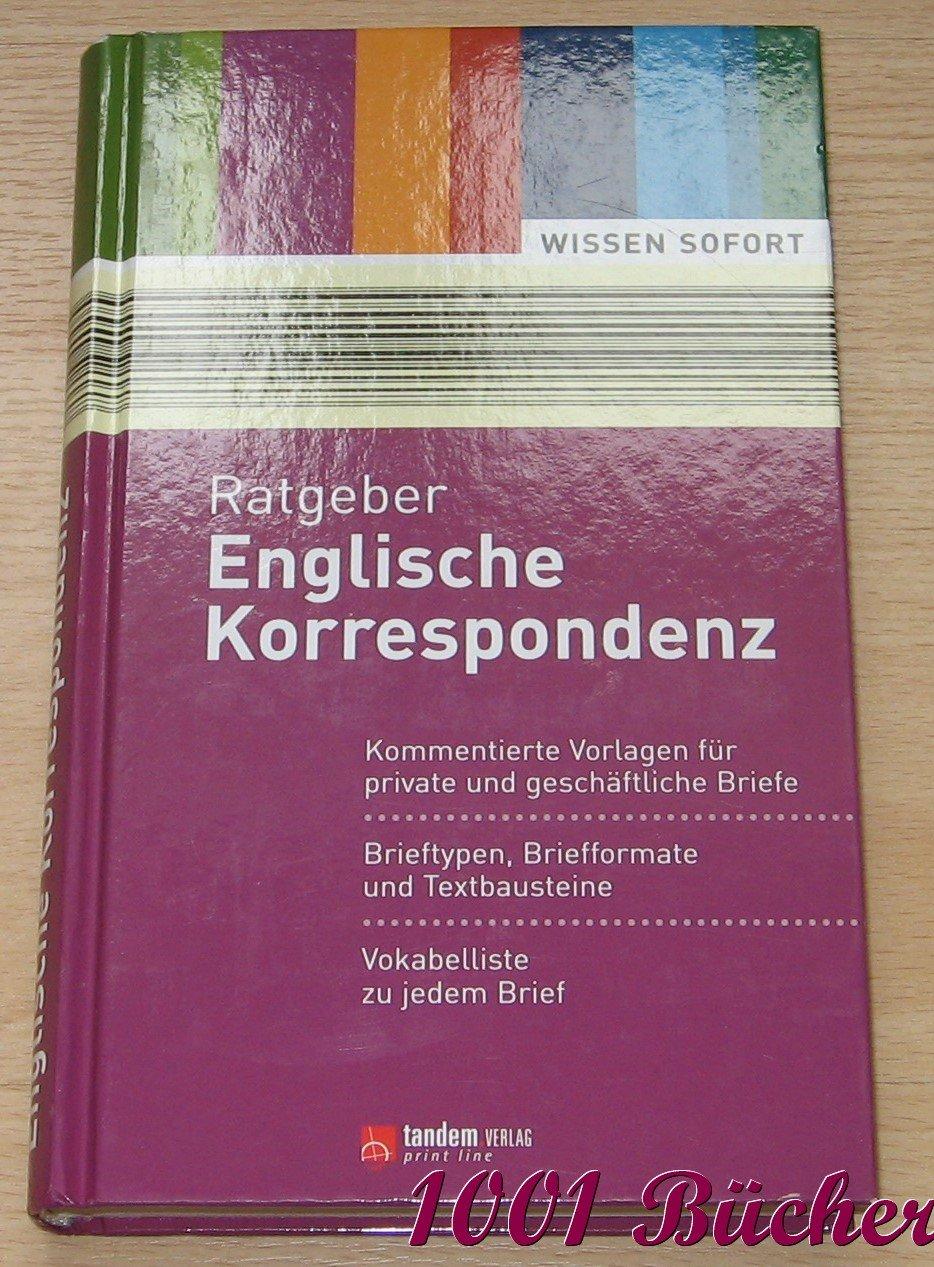 Ratgeber Englische Korrespondenz Uta Hasekamp Buch Antiquarisch