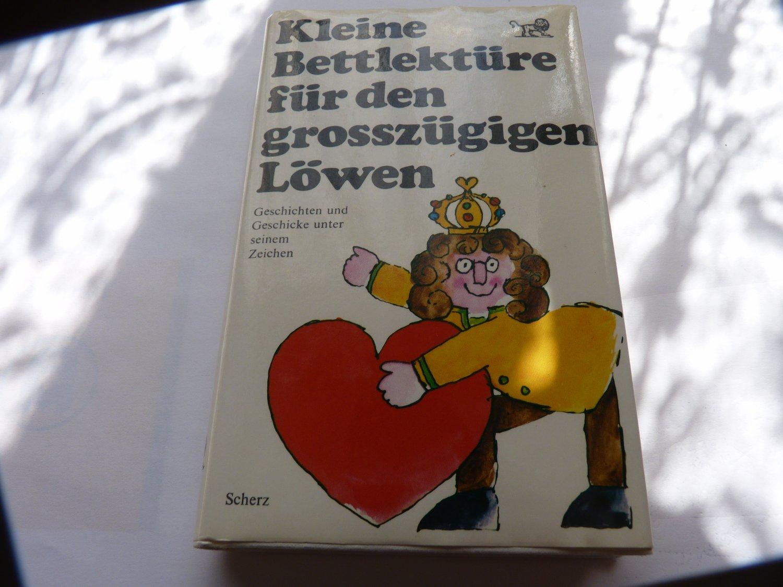 Scherz Verlag!!!!!!!!!!!!!!!!!!!! Belletristik Kleine Bettlektüre Für Den Grosszügigen Löwen