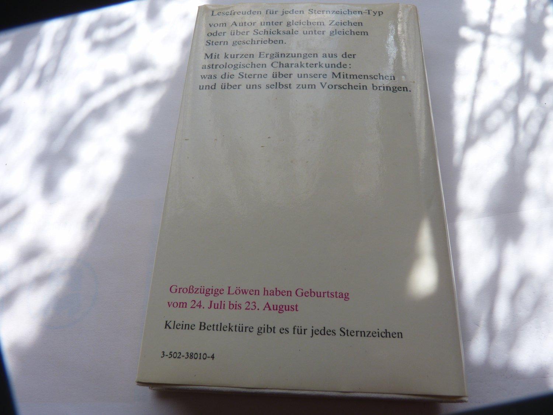Belletristik Scherz Verlag!!!!!!!!!!!!!!!!!!!! Kleine Bettlektüre Für Den Grosszügigen Löwen
