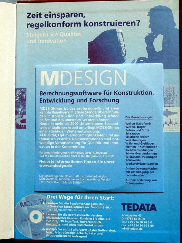 Roloff / Matek, Maschinenelemente - Normung, Berechnung Gestaltung ...