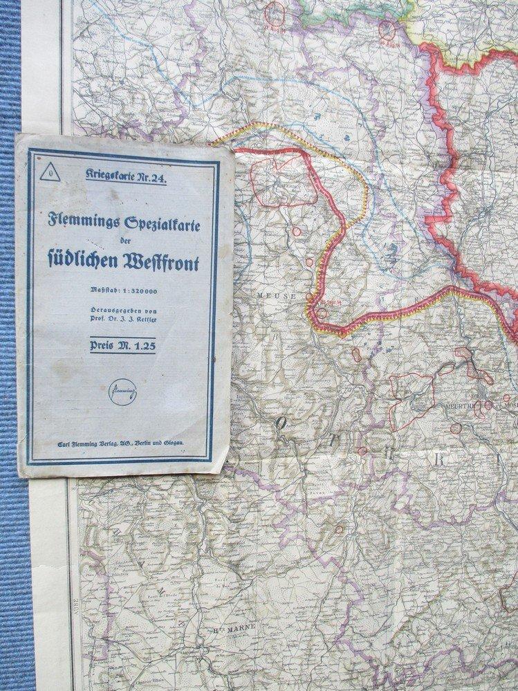 Westfront 1 Weltkrieg Karte.Flemmings Spezialkarte Der Sudlichen Westfront Massstab 1 320 000 Kriegskarte Nr 24