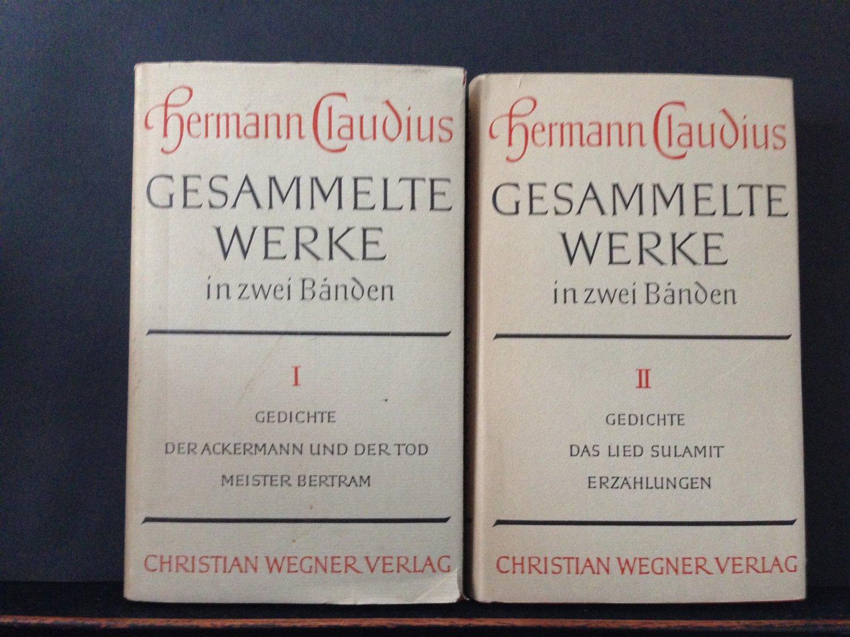 Hermann Claudius Bücher Signiert Kaufen