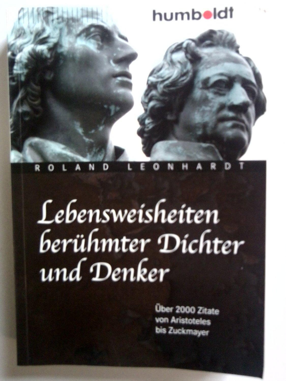 Exquisit Lebensweisheiten Zitate Ideen Von Gebrauchtes Buch – Leonhardt, Roland – Berühmter