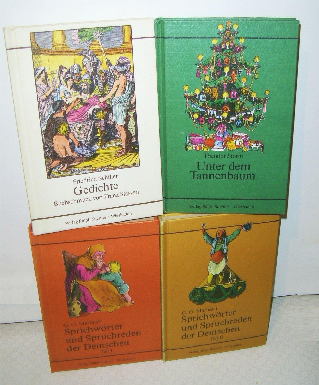 Tannenbaum Gedicht.4 Bücher Unter Dem Tannenbaum Gedichte Sprichwörter Und Spruchreden Der Deutschen I Ii Sammlung Set Konvolut Paket