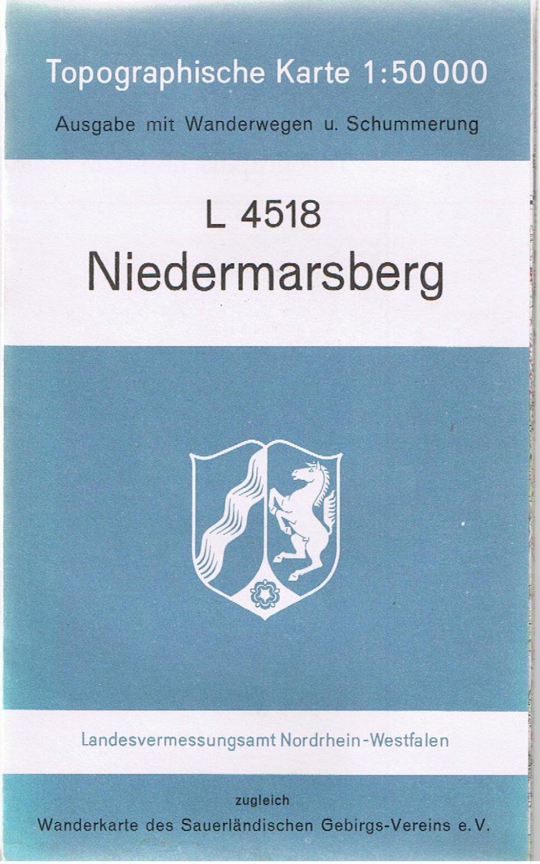 Topographische Karte Nrw.Niedermarsberg Topographische Karte 1 50 000 L 4518
