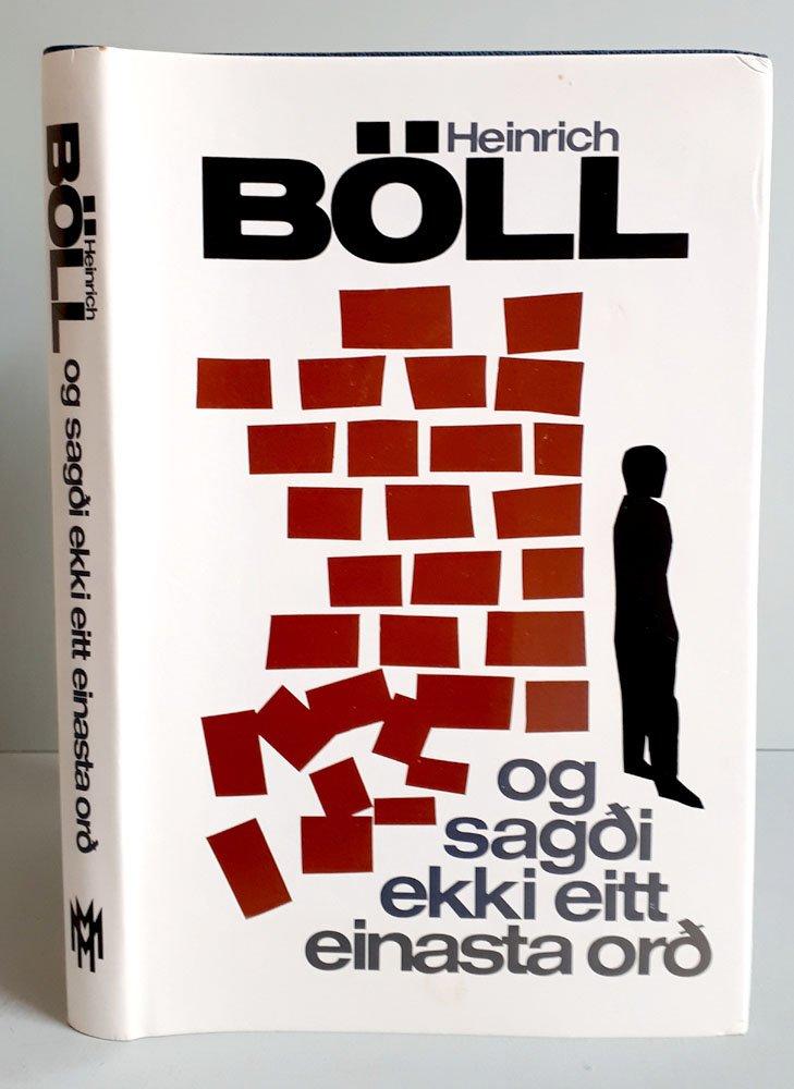 Og Sagdi Ekki Eitt Einasta Ord Skáldsaga Isländische Erstausgabe