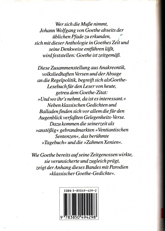 Goethe gedichte liebe