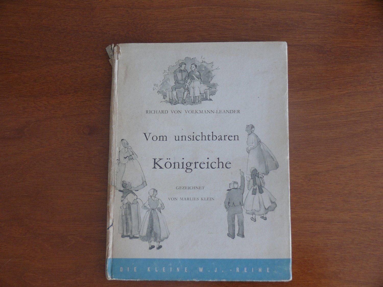 Richard Von Volkmann-leander Verkaufspreis Bücher Allgemeine Kurzgeschichten Vom Unsichtbaren Königreiche