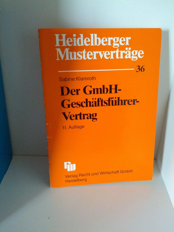 Isbn 3800540592 Der Gmbh Geschäftsführer Vertrag Neu Gebraucht