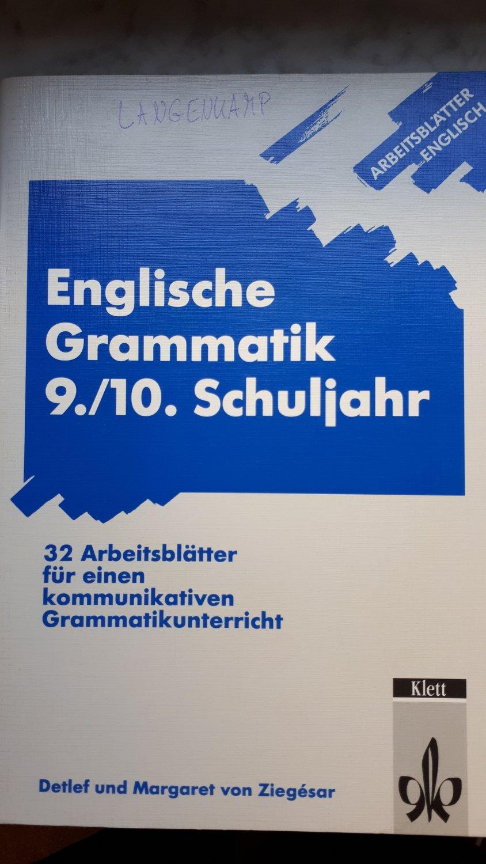 Arbeitsblätter Englisch / Englische Grammatik 20./20. Schuljahr