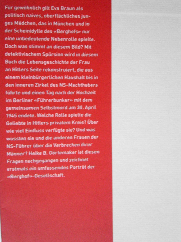 Eva Braun Leben Mit Hitler Gortemaker Heike B Buch Gebraucht Kaufen A02qtrqw01zzh