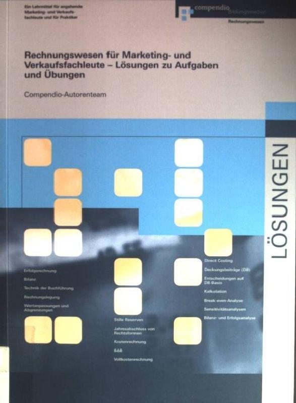 Compendio Autorenteam Rechnungswesen Für Marketing Und