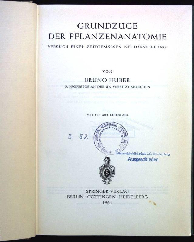 Grundzüge der Pflanzenanatomie Versuch einer zeitgemässen ...