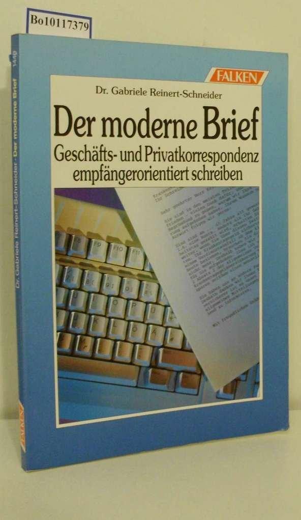 Der Moderne Brief Geschäfts Und Privatkorrespondenz