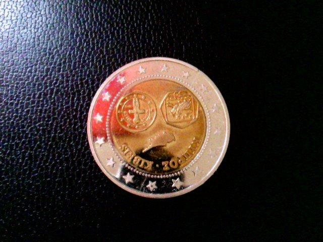 Münze Probeprägung Euroeinführung Zypern Cyprus Kibris 2008