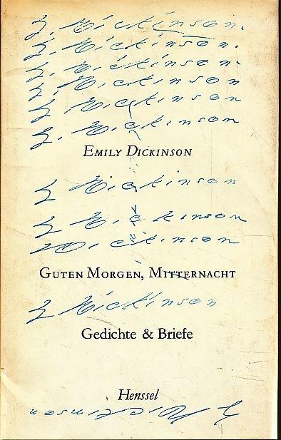 Guten Morgen Mitternacht Gedichte Briefe Englisch Deutsch Ausgewählt Und übertragen Von Lola Gruenthal