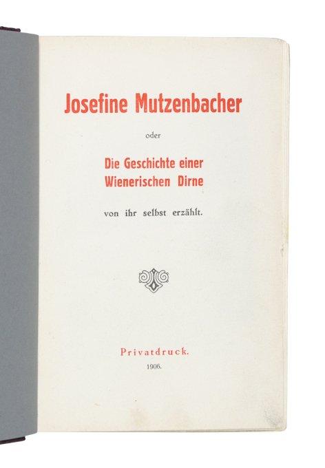 Mutzenbacher die Josefine Mutzenbacher