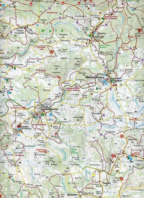 Dreiländereck Bayerischer Wald Karte.Isbn 9783990176023 Luftbildpanorama Wanderkarte Dreiländereck
