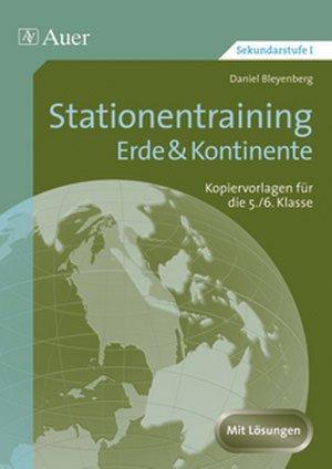 Stationentraining Erde & Kontinente - Kopiervorlagen für die ...