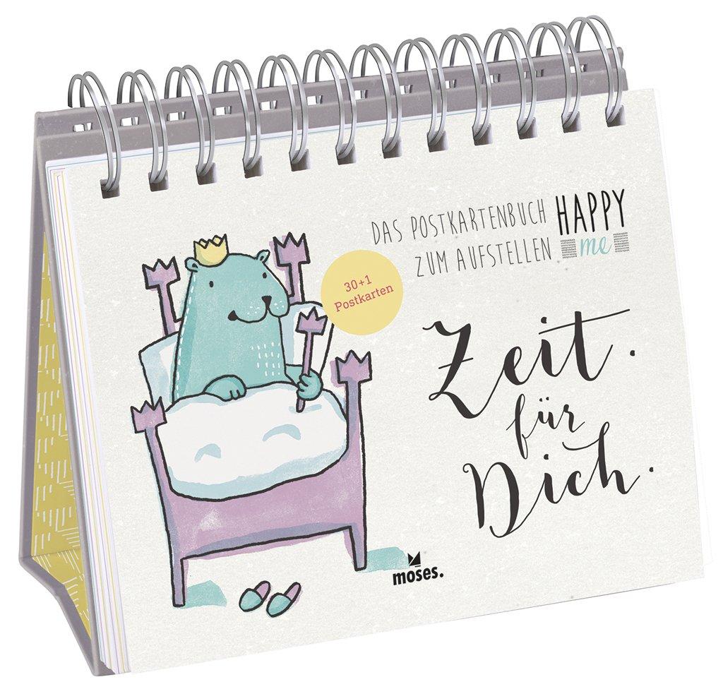 Happy me Postkartenbuch Zeit für dich, moses Verlag, lustige