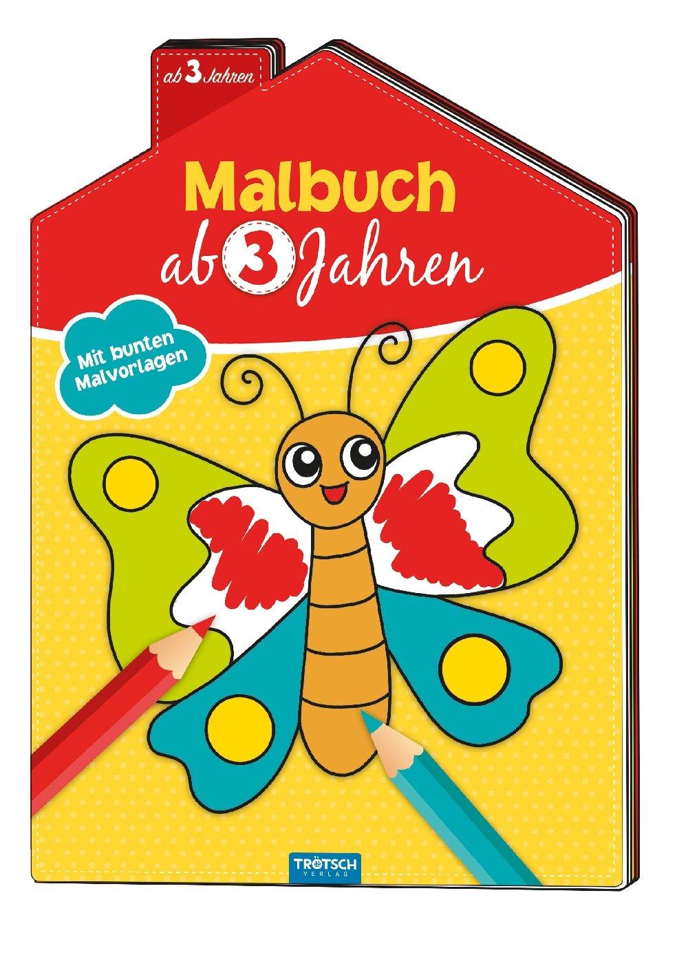 Sonstige Mal- & Zeichenmaterialien für Kinder Malbuch ab 4 Jahren Mit bunten Malvorlagen Broschüre Deutsch 2018