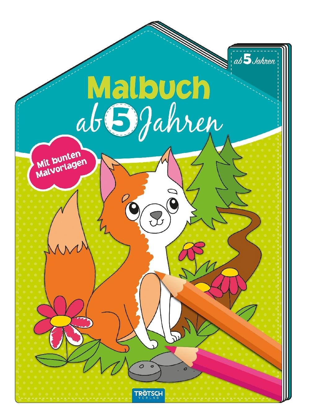 Malbuch ab 5 Jahren Mit bunten Malvorlagen Broschüre Deutsch 2018 Bastel- & Kreativ-Bedarf für Kinder